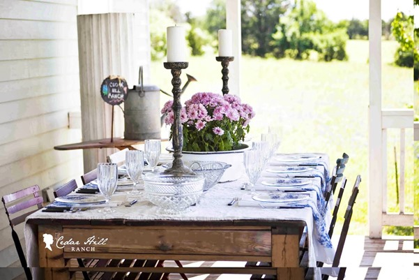toile table back porch