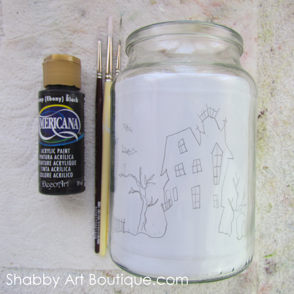 Shabby Art Boutique - Halloween Candle Jar - tutorial 2