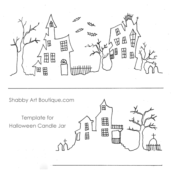 Shabby Art Boutique - Halloween Candle Jar - tutorial 4
