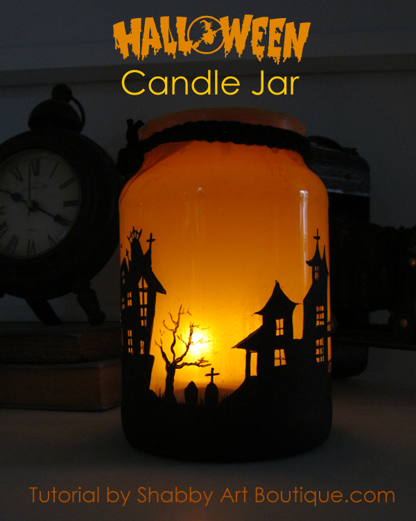 Shabby Art Boutique - Halloween Candle Jar