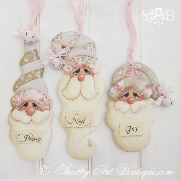 Shabby Art Boutique - Shabby Santa Trio 2