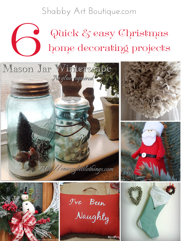 Shabby Art Boutique - 6 quick and easy home decorating projects