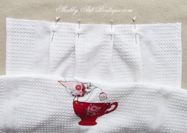 Shabby Art Boutique - Tea Towel Apron 1