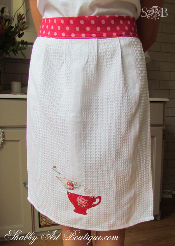 Shabby Art Boutique - Tea Towel Apron 3
