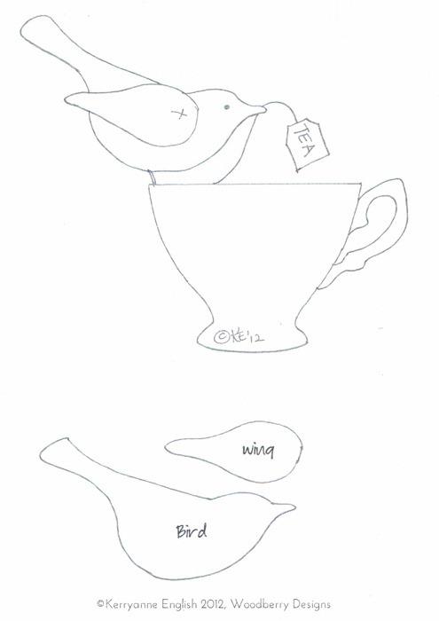 Shabby Art Boutique - Tea Towel Apron template