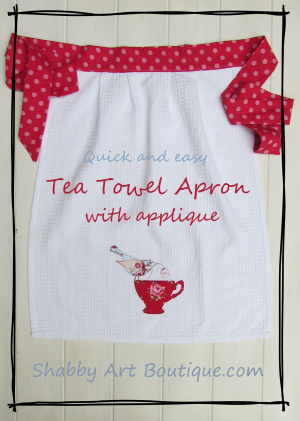 Shabby Art Boutique - Tea Towel Apron tutorial