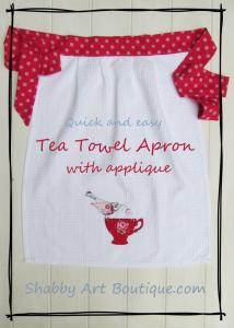 Shabby Art Boutique - Tea Towel Apron tutorial