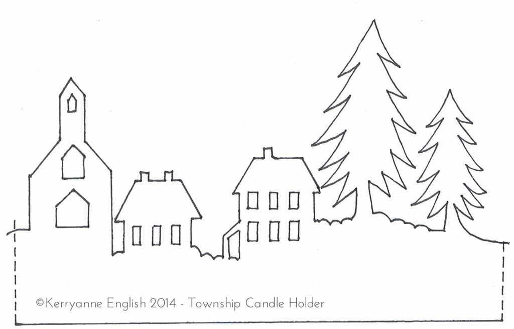 printable christmas village silhouette related keywords