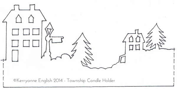 Shabby Art Boutique - Township Candle Holder template 2