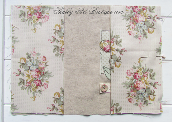 Shabby Art Boutique - fabric covered diary tutorial 2