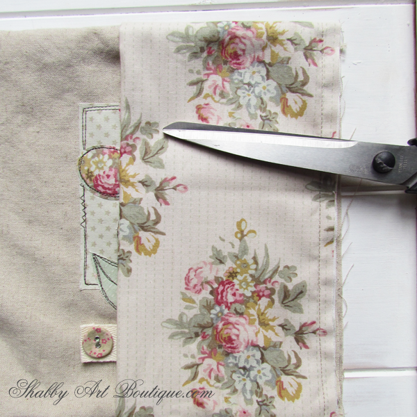 Shabby Art Boutique - fabric covered diary tutorial 3