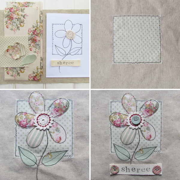 Shabby Art Boutique - fabric covered diary tutorial supplies 2