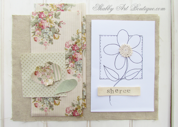 Shabby Art Boutique - fabric covered diary tutorial supplies