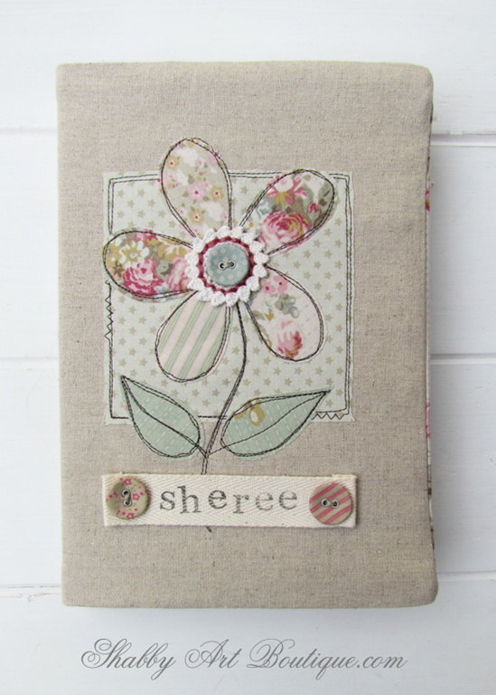 Handmade Fabric Book Cover Tutorial : Handmade gifts… made with love shabby art boutique