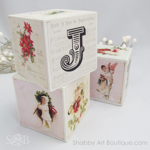 How to make Vintage Christmas Blocks