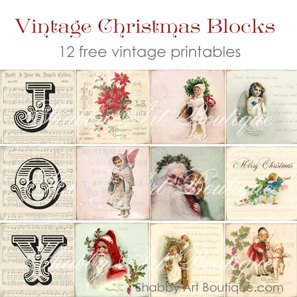 Shabby Art Boutique - vintage blocks 3