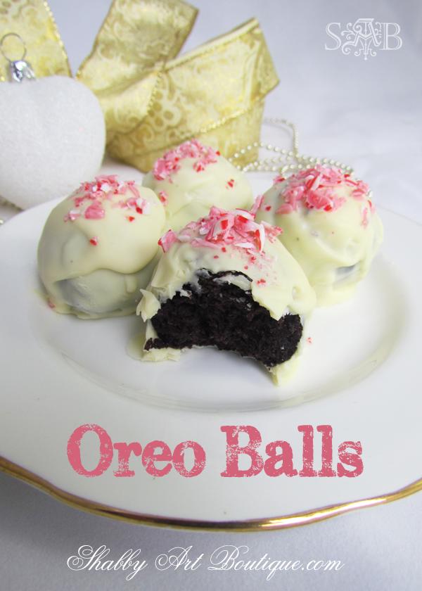 White Chocolate Mint Oreo Balls