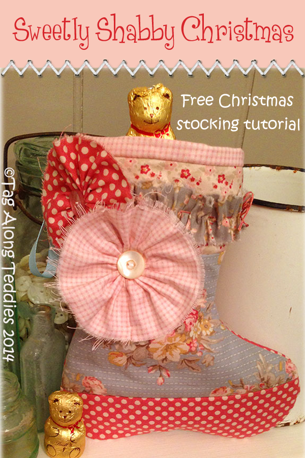 Sweetly Shabby Christmas stocking