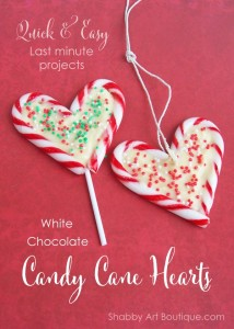 Quick and easy Chocolate Candy Cane Hearts