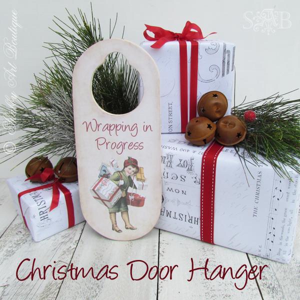 Shabby Art Boutique Christmas Door Hanger