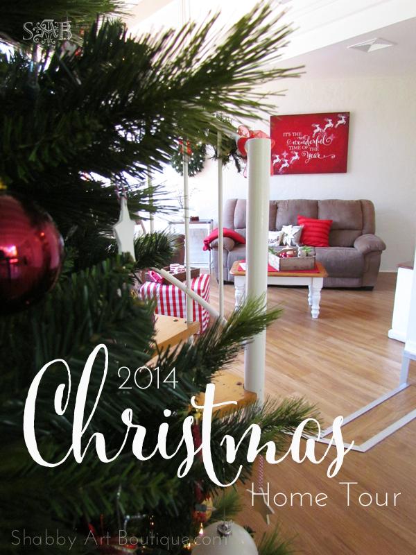 Shabby Art Boutique - Christmas Home Tour - part 1