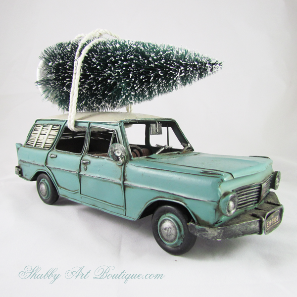 Shabby Art Boutique - Christmas trees on cars 1