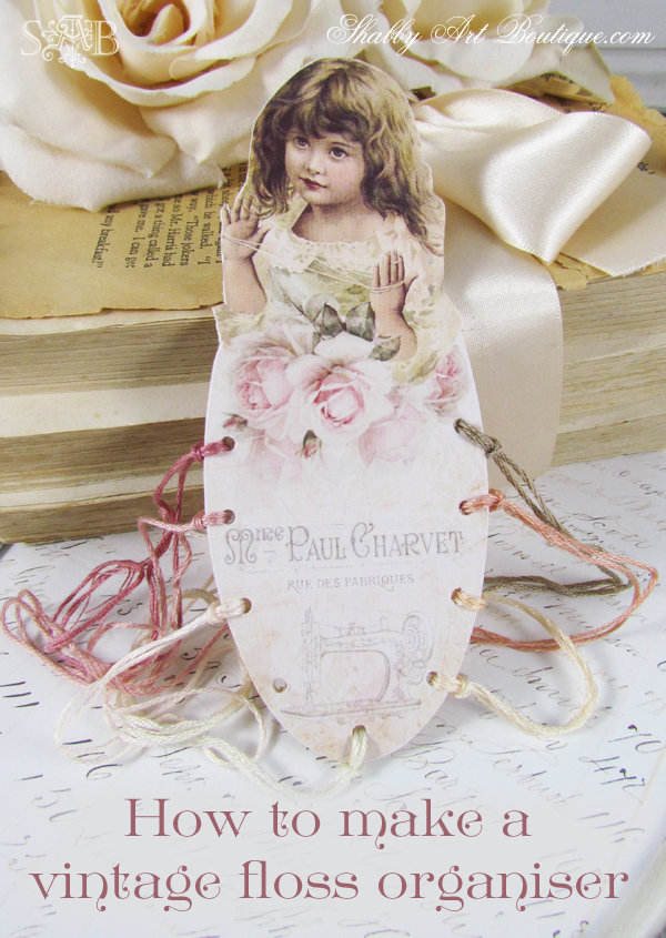 Shabby Art Boutique - Embroidery Floss Organiser free download