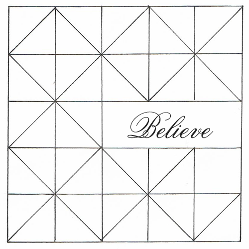 Shabby Art Boutique - believe cushion