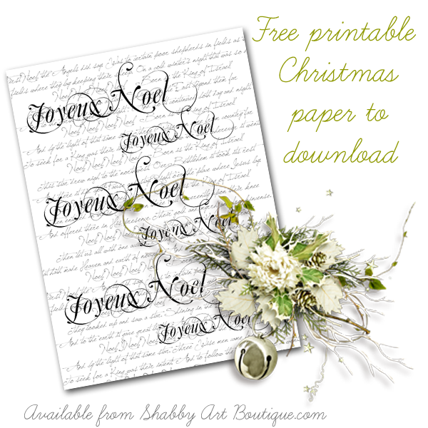 Shabby Art Boutique - download Christmas paper