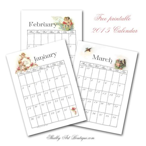 Shabby Art Boutique - 2015 Calendar