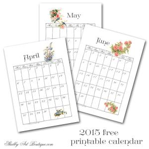 Part 2 ~ 2015 printable calendar