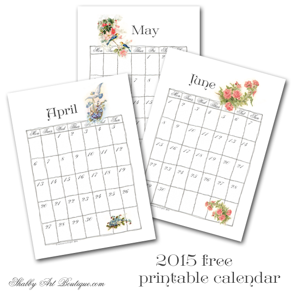 Shabby Art Boutique - 2015 calendar part 2