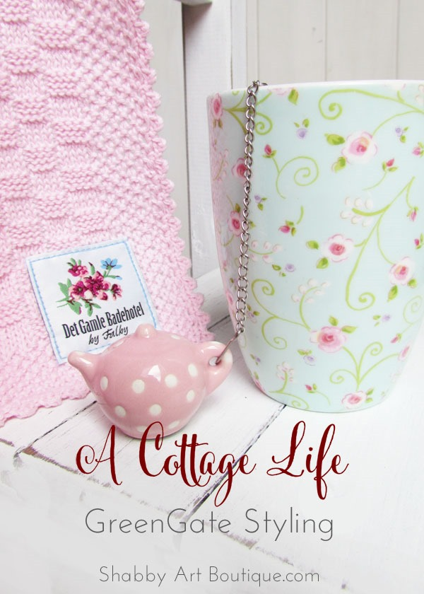 GreenGate Styling for a cottage look by Shabby Art Boutique for the 'A Cottage Life' series.