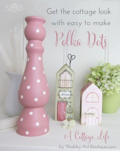 A Cottage Life ~ Easy to make polka dots!