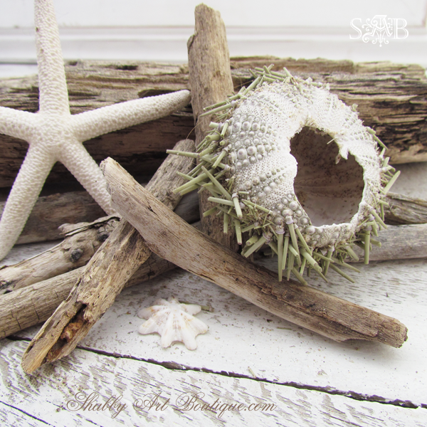 Shabby Art Boutique - Driftwood Candle 2