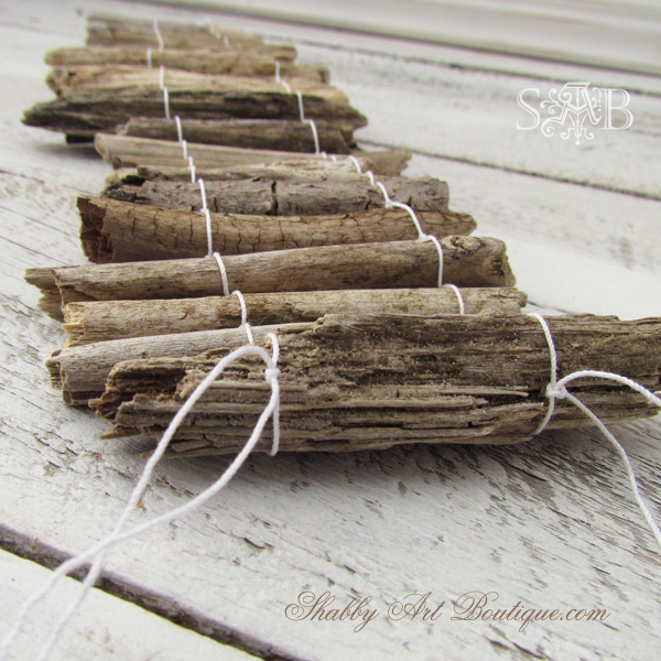 Shabby Art Boutique - Driftwood Candle 3