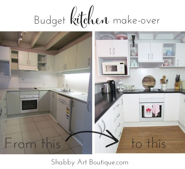Shabby Art Boutique - budget kitchen make-over 1