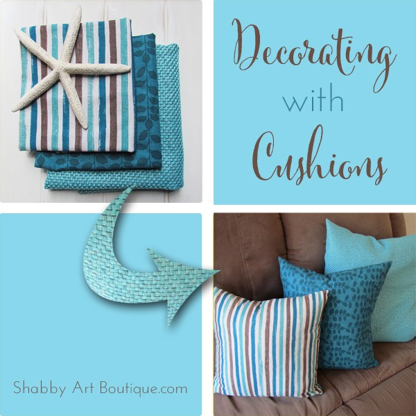 Shabby Art Boutique - decorating with cushions