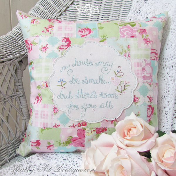how to make a parchwork cushion
