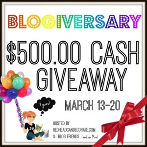 $500 Giveaway…