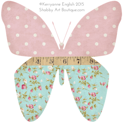 Shabby Art Boutique - Butterfly graphic 1