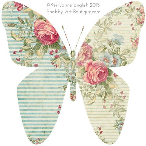 Shabby Art Boutique - Butterfly graphic 3