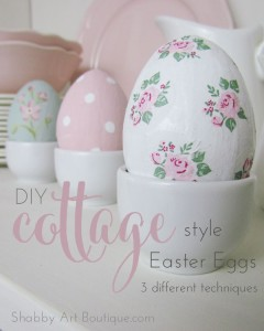 DIY Cottage Style Easter Eggs