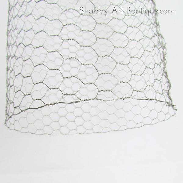 DIY ~ chicken wire cloche - Shabby Art Boutique