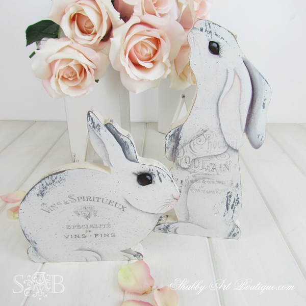 Shabby Art Boutique - Easter French Bunnies