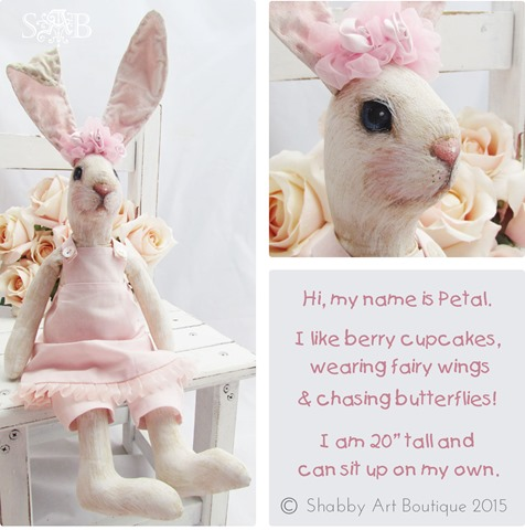 Shabby Art Boutique - Petal Bunny