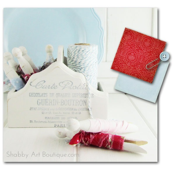 Shabby Art Boutique - red and blue decor1