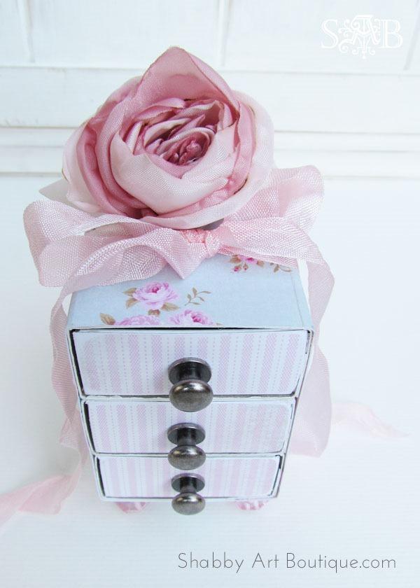 How to make a sweet, shabby 3 drawer gift box tutoria