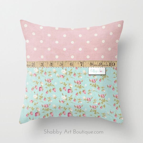 Shabby Art Boutique - Cottage Love cushion