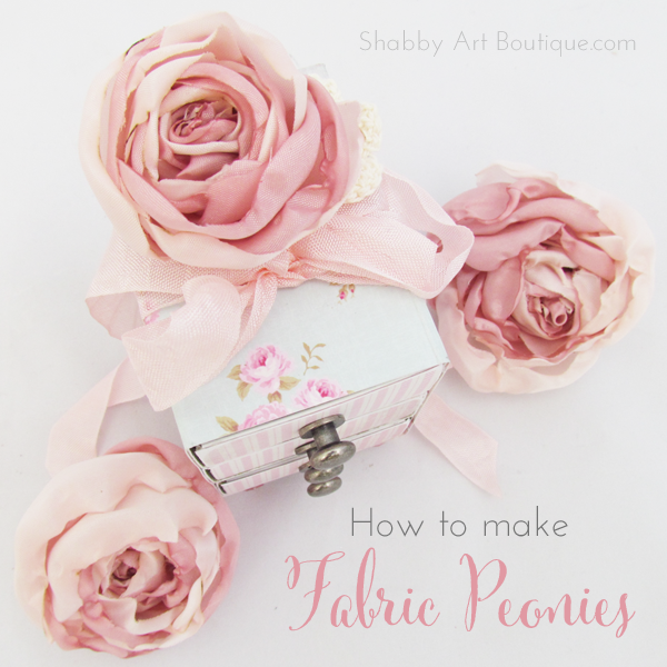 Shabby Art Boutique - DIY Fabric Peonies 9
